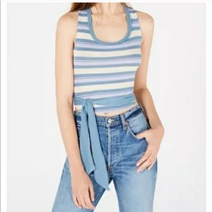 Free People tank top chambray combo